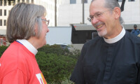 Archdeacon Russ Oechsel and the Rev. Gena Davis