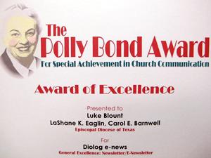 Polly Bond Award