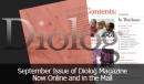 September Diolog Magazine Online and in the Mail