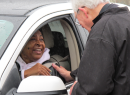 Clergy in Spring Brave Rain, Cold to Deliver Drive-Thru Ashes