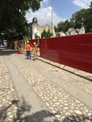 Comienzan el despeje del terreno en la catedral de la Santa Trinidad en Haití