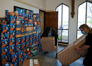 Donations to Help Hungry Stack Up Inside Temple Church
