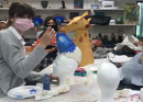 "All Saints Episcopal School Students Work on Masks for TJC ""Aladdin"" Production"