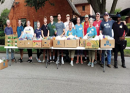 Churches Join Together to Help Distribute Food to Needy